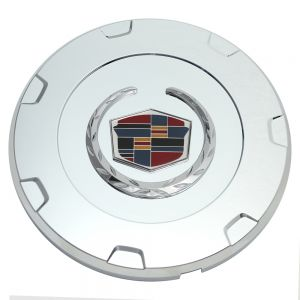 Center Cap Chrome with Logo Fits 2010 Cadillac Escalade - Single Piece