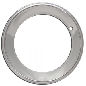 OxGord Trim Ring 15 inch diameter 2.5 inch Depth (Single Piece) Stainless Steel Beauty Rim
