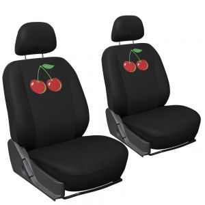Seat Cover Flat Cloth Embroidered Cherry Detachable Buckets