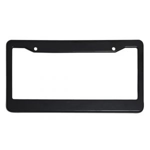 Plastic License Plate Black Frame