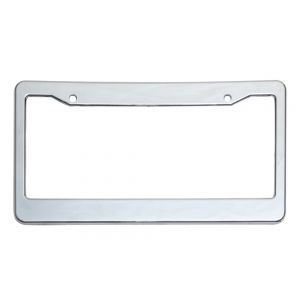 Plastic License Plate Chrome Frame
