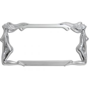 Beach Ladies (Facing Out) Metal License Plate Frame