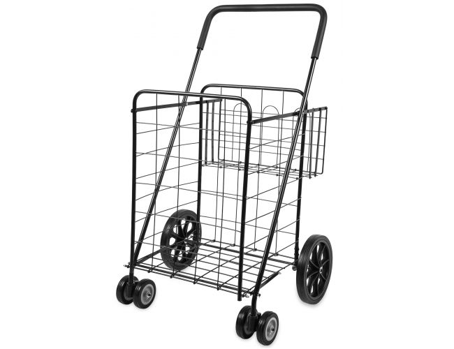 Folding Shopping Cart With Double Basket- Jumbo Size 150