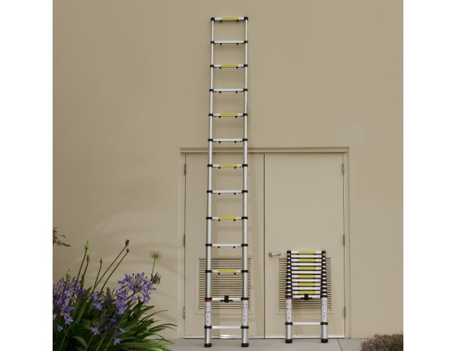 Oxgord 12 5 Feet Aluminum Telescopic Extension Ladder