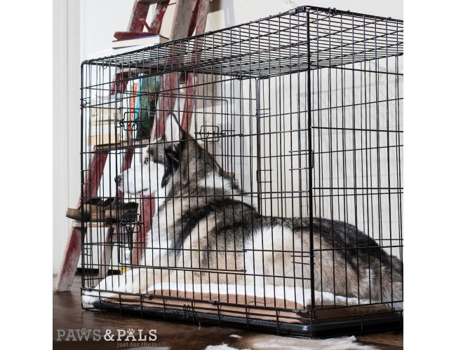 32 Inch Wire Dog Crate   Paws Pals 48 Xxl Dog Crate Double Door Folding Metal Wire Cage