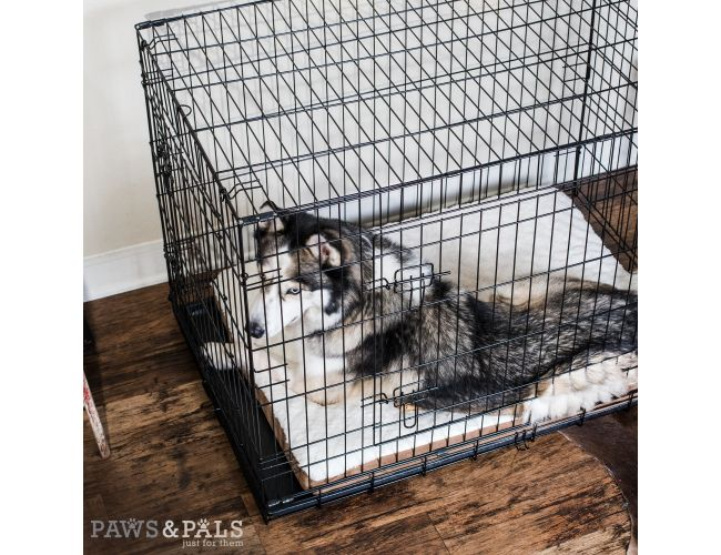 48 Wire Dog Crate | Paws Pals 48 Xxl Dog Crate Double Door Folding Metal Wire Cage