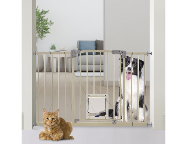 Paws Amp Pals Dog Gate Multifunctional Indoor Metal Baby