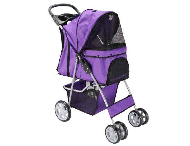 purple pet stroller. Black Bedroom Furniture Sets. Home Design Ideas