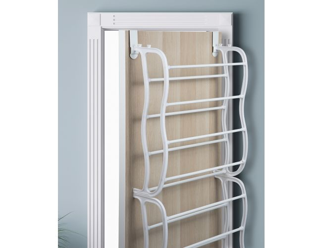 Over The  Door Shoe Rack Organizer For 36 Pair Wall Hanging Closet Organizer