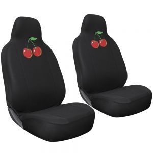 Seat Cover Flat Cloth Embroidered Cherry Integrated Buckets