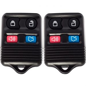 1998 - 2013 Ford Mercury Lincoln Mazda Toyota 4- Button Remote Keyless Entry System - 2pk