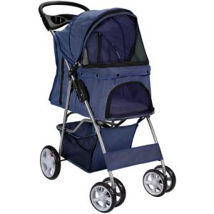 Navy Blue Pet Stroller