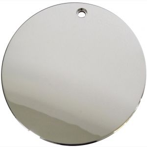 "Center Cap Chrome Locking Cap - 6 3/8"" - Single Piece"