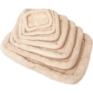 Paws & Pals Pet Bed with Cozy Inner Cushion - 20 Inch - Medium - Beige, Brown, Tan