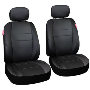 Coleman Complete Seat Cover Set -Poly Flat Cloth Mesh- Bucket Seat Style - Adventure Class for Cars, Trucks, Vans & SUVs - Black