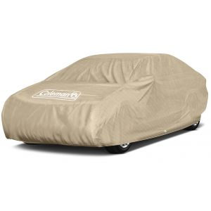 "Coleman Premium Executive Car Cover - Indoor-Outdoor Cover Waterproof/Dustproof/Scratch Resistant/UV Protection for Vehicles up to 225"" Inches"