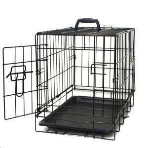 "Paws & Pals 20"" Dog Crate Single-Door Folding Metal - Wire Cage for Training Pets - Small 17"" x 12"" x 14"""