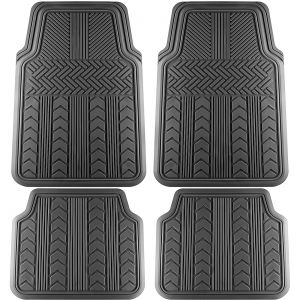 "4pc ""Arrow"" Style Mats Black (FMAR BK)"