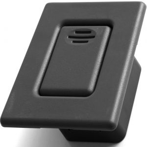 Folding Seat Back Latch for Select GM Vehicles - Replaces 12477396 Rear Bucket Row Release Lock Button, Black Cover