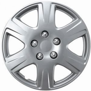 "15"" Inch Hub Caps Silver Fits 05 - 08 Toyota Corolla - Set of 4"