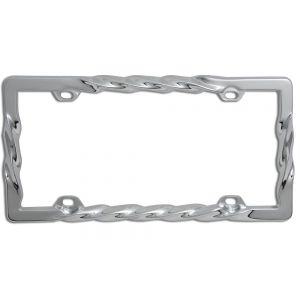 Braided Metal License Plate Frame