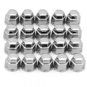 OxGord Black Chrome Lug Nut Cover- 19 MM