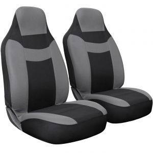 Intergrated Car Seat Cover -2pc-Black & Gray