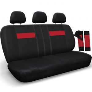 Bench Seat Cover, Black & Red
