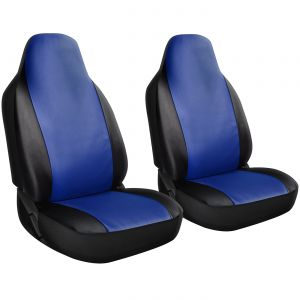 OxGord 2pc PU Leather front seat cover, Blue