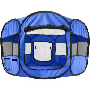 Blue Pet Playpen Portable Tent