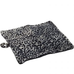 "Paws & Pals Thermal Cat Self Warming Bed 20"" x 17.5"" - Mat for Pets Dog Kittens Puppy - Grey White Black Leopard Print"