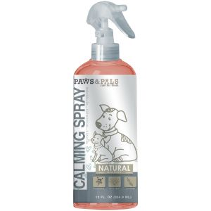 Paws & Pals Pet Natural Calming Spray for Dogs and Cats with Chamomile, Aloe Vera and Lavender - 12oz