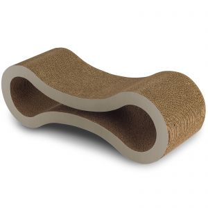 "Paws & Pals 34""x10.5""x10.5"" Inches Pet Cat Scratcher and Lounger – Beige"