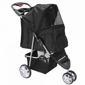 Black Pet Stroller, 3-Wheel