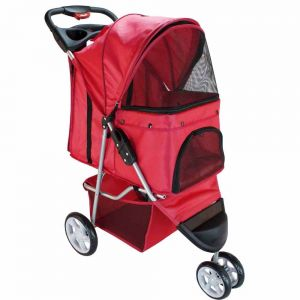 Red Pet Stroller, 3-Wheel