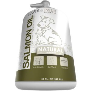 Omega 3 Salmon Fish Oil for Dogs - 32 oz Pure Wild-Alaskan Natural Pet Supplement