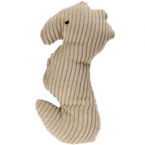 Dog Toys for Aggressive Chewers - Interactive Squeaky Plush Pet Chew Toy for Large & Small Dogs, Cats - Seahorse