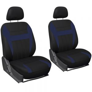 6pc Seat Cover, Blue & Black