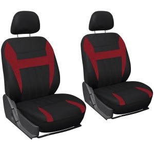 6pc Seat Cover, Red & Black