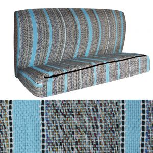 Saddle Bench Seat Cover, Light Blue