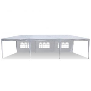 Den Haven Tent Canopy Party Covering with Removable Sidewalls and Zipper Doorways (10x30 Feet)