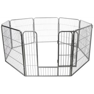 "24"" x 73"" Exercise Pen, Metal Tube Fence - Heavy Duty Folding Yard Playpen for Pets - 8 Panel 24 H"" by 73"" Octagon Diameter"