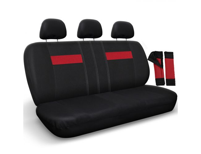 Bench Seat Cover Black Red