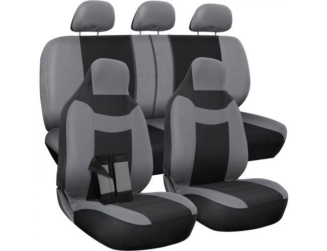 Admirable Oxgord Car Seat Cover Poly Cloth Two Tone With Front Low Bucket And 50 50 Or 60 40 Rear Split Bench Universal Fit For Cars Truck Suv Van 10 Caraccident5 Cool Chair Designs And Ideas Caraccident5Info